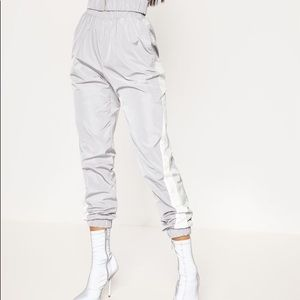 Pretty Little Thing- Grey Reflective Joggers